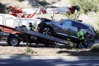 State of Tiger Wood's car crash last week.