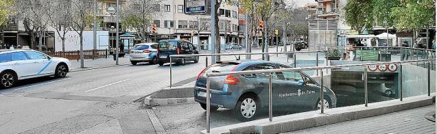Underground car park in Palma, Mallorca