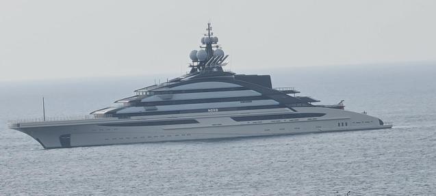 Super yacht off Portals.