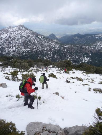 Ankle-deep snow in the Serra de Tramuntana.