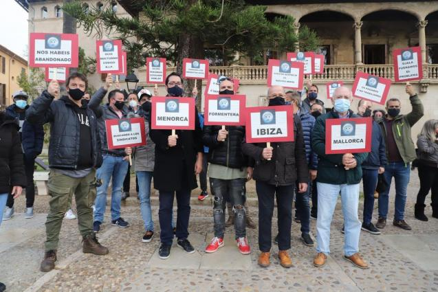 Protest by nightlife businesses in Palma, Mallorca