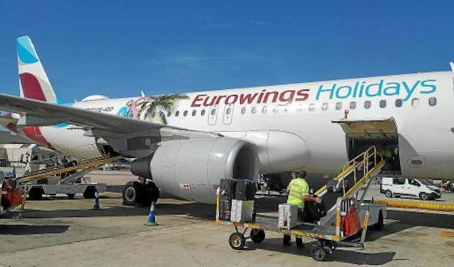 Eurowings plane, Palma Airport.