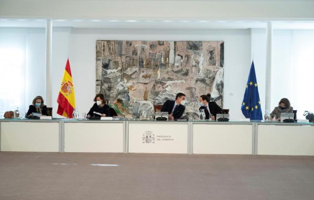 Spanish government cabinet meeting