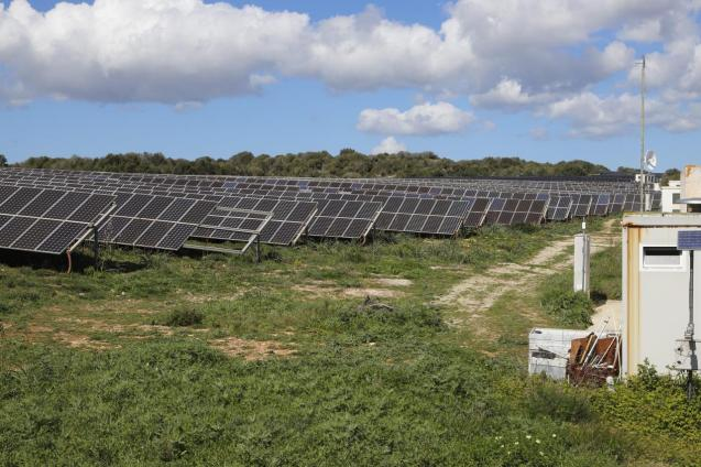 Solar farm in Minorca