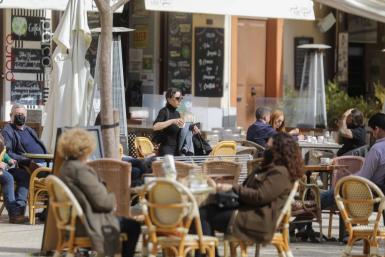 Bar and restaurant terraces.