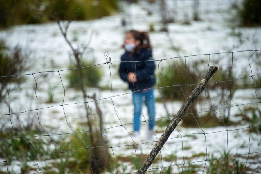 First snow in Escorca