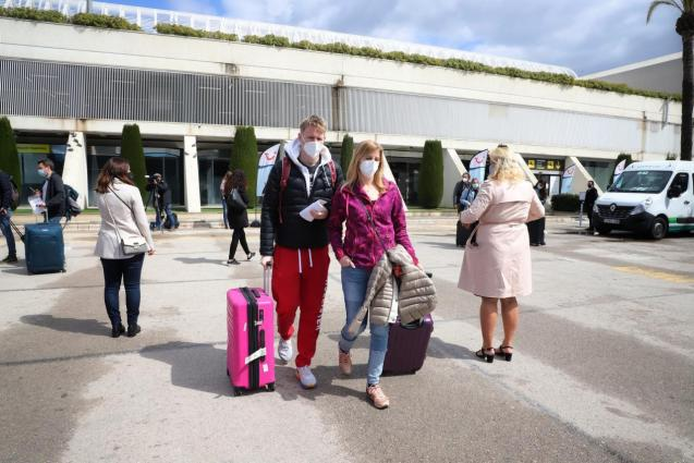 German tourists arriving in Mallorca