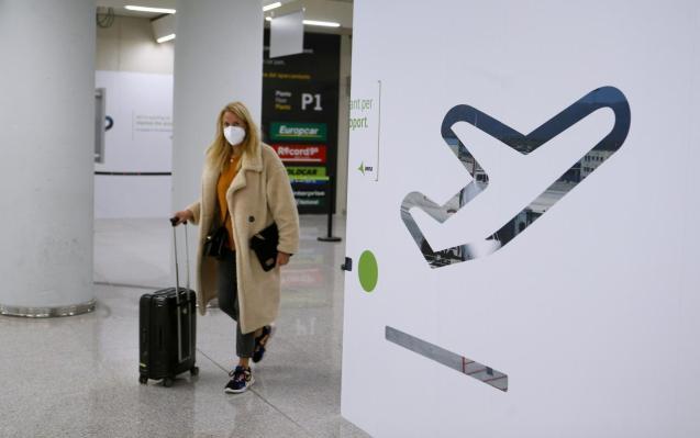 Passenger at Palma Son Sant Joan Airport, Mallorca