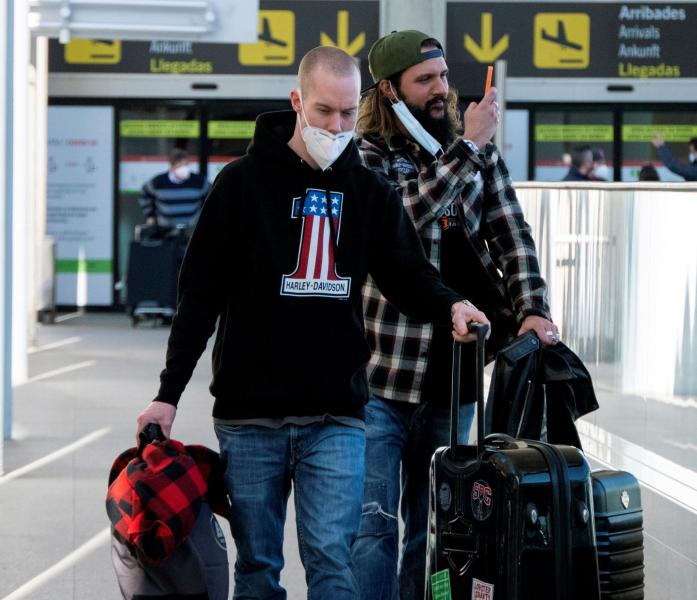 Tourists from Germany arrive at Palma Airport