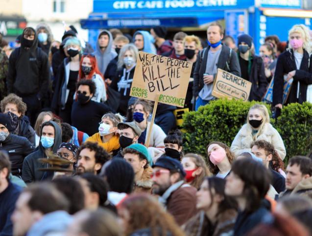 Kill the Bill demonstration in Bristol
