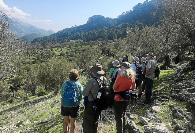Guide Fernando Terrasa on a group excursion to el Valle de Orient & Alaro Castle.