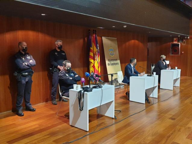 Capdepera town hall (Mallorca) press conference