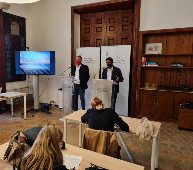 Balearic employment minister, Iago Negueruela, presents March unemployment figures