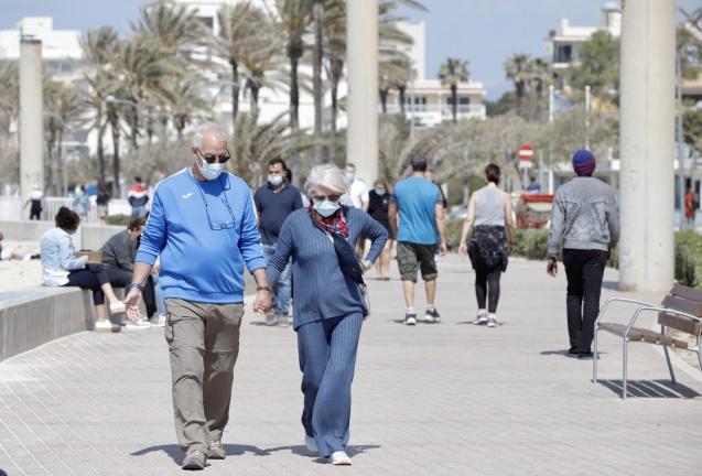 People in Playa de Palma, Mallorca