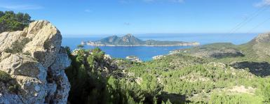 Views from the Tramuntana mountains.