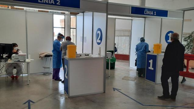 Vaccination centre in Manacor, Mallorca