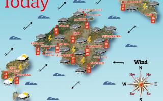Weather forecast for Saturday, April 10