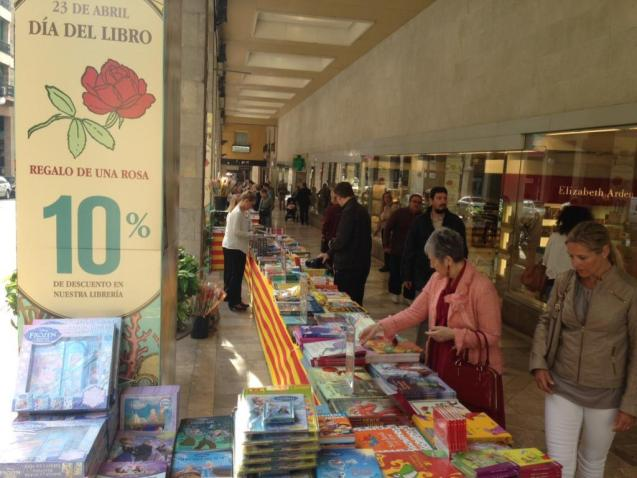 Sant Jordi (Saint George) Book Day in Palma, Mallorca