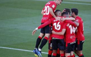 Real Mallorca celebrate a goal against Lugo