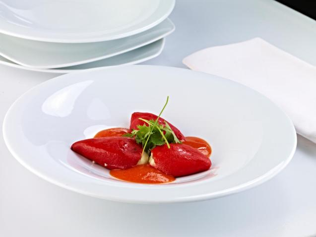 Red pepper coulis