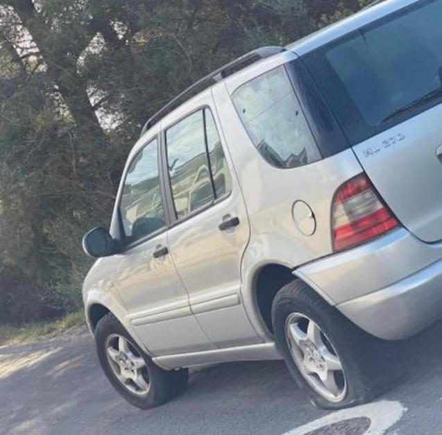 Cars vandalised in Santa Ponsa, Mallorca.