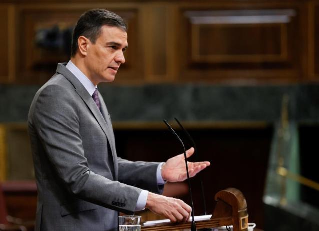 Prime Minister Pedro Sanchez defending his economic plan