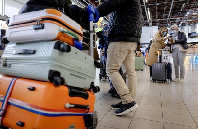 Travelers depart to Rhodes for test holidays