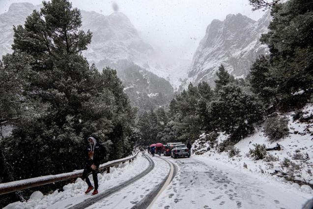 Snow in the mountains of Mallorca.