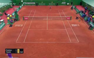 Video of the match between Rafa Nadal and Andrew Rublev in Monte Carlo.