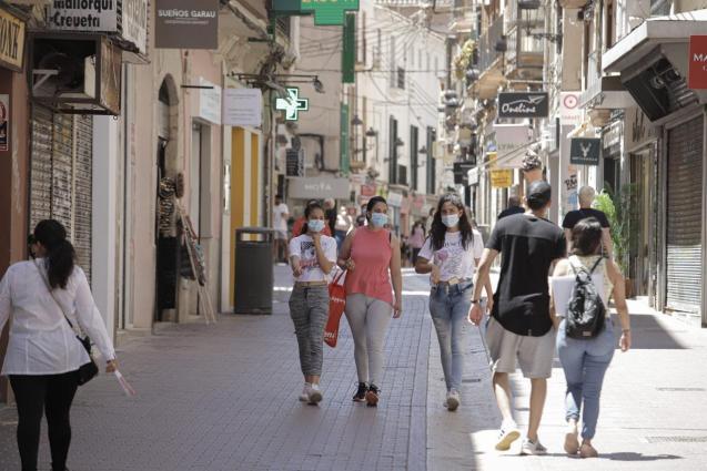 Pedestrians in Palma, Mallorca