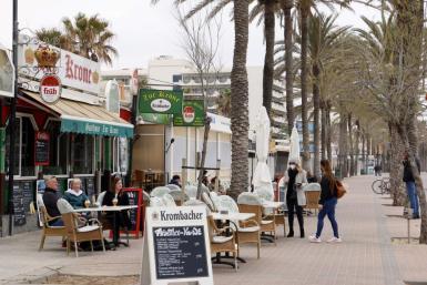A bar on the Playa de Palma.