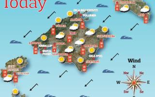 Weather forecast for the Balearic Islands for Friday, April 23