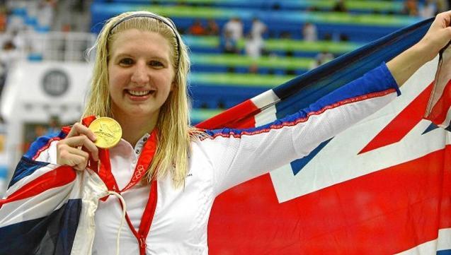 Rebecca Adlington came to train in Majorca before Beijing 2008