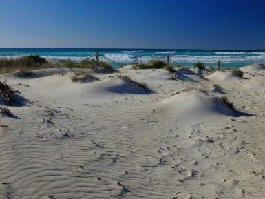 After a morning's hike along Es Trenc, considered one of the most beautiful beaches in the world.