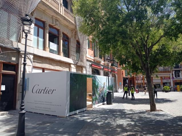 Cartier store in Plaça de Cort, Palma.