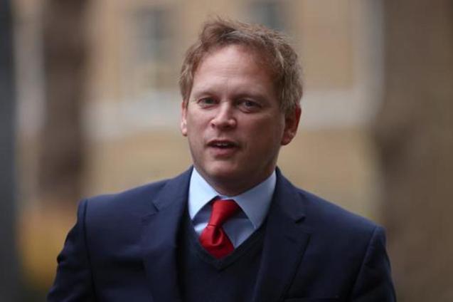 Britain's Transport Secretary, Grant Shapps.