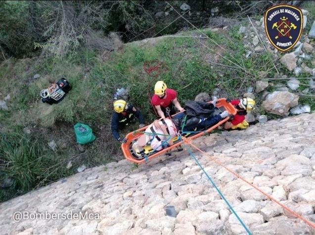 Rescue by the Mallorca Fire Brigade
