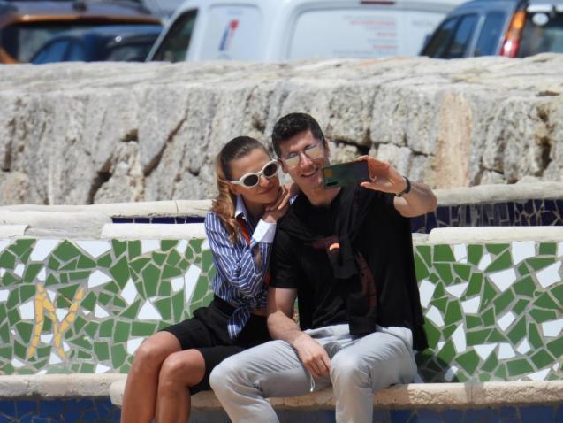 Robert Lewandowski and wife Anna in Mallorca