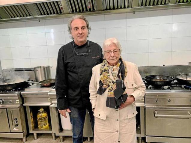 Tomeu Torrens & his mother, Antonia Cantallops, at Can Amer.