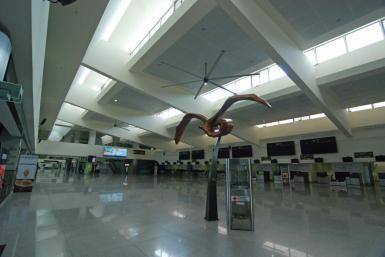 Minorca's airport.
