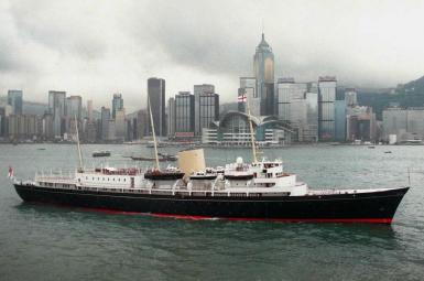 Royal yacht Britannia.