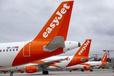 Easyjet aircraft in London.