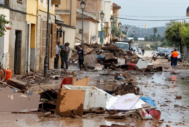 Aftermath of the floods in Sant Llorenç, Mallorca in October 2018.