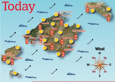 Weather forecast for the Balearic Islands for Friday, May 7.