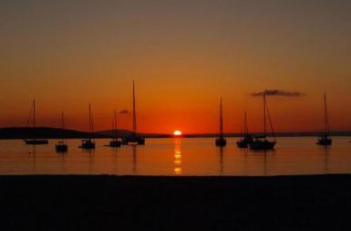 Sunset in Portals Nous, Mallorca.