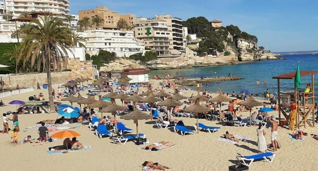 Cala Major beach in Palma, Mallorca