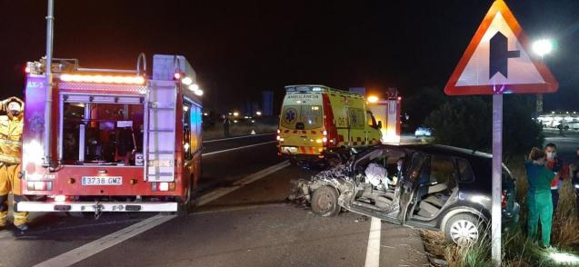 Road accident in Palma, Mallorca