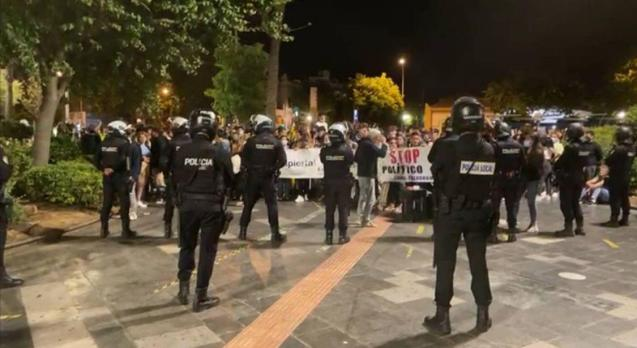 Protest against restrictions in Palma, Mallorca