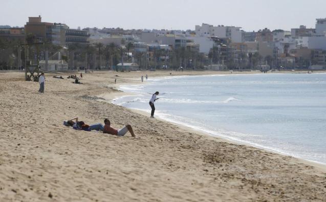 Playa de Palma, popular with German tourists.
