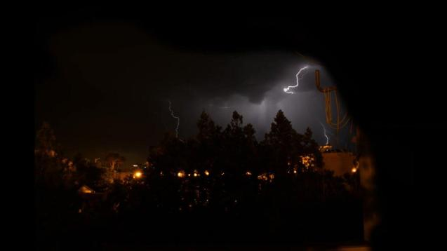 Last night storms registered on the island